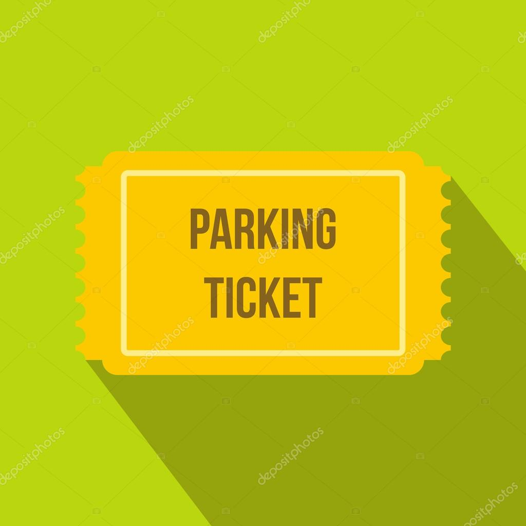 Parking ticket icon in flat style