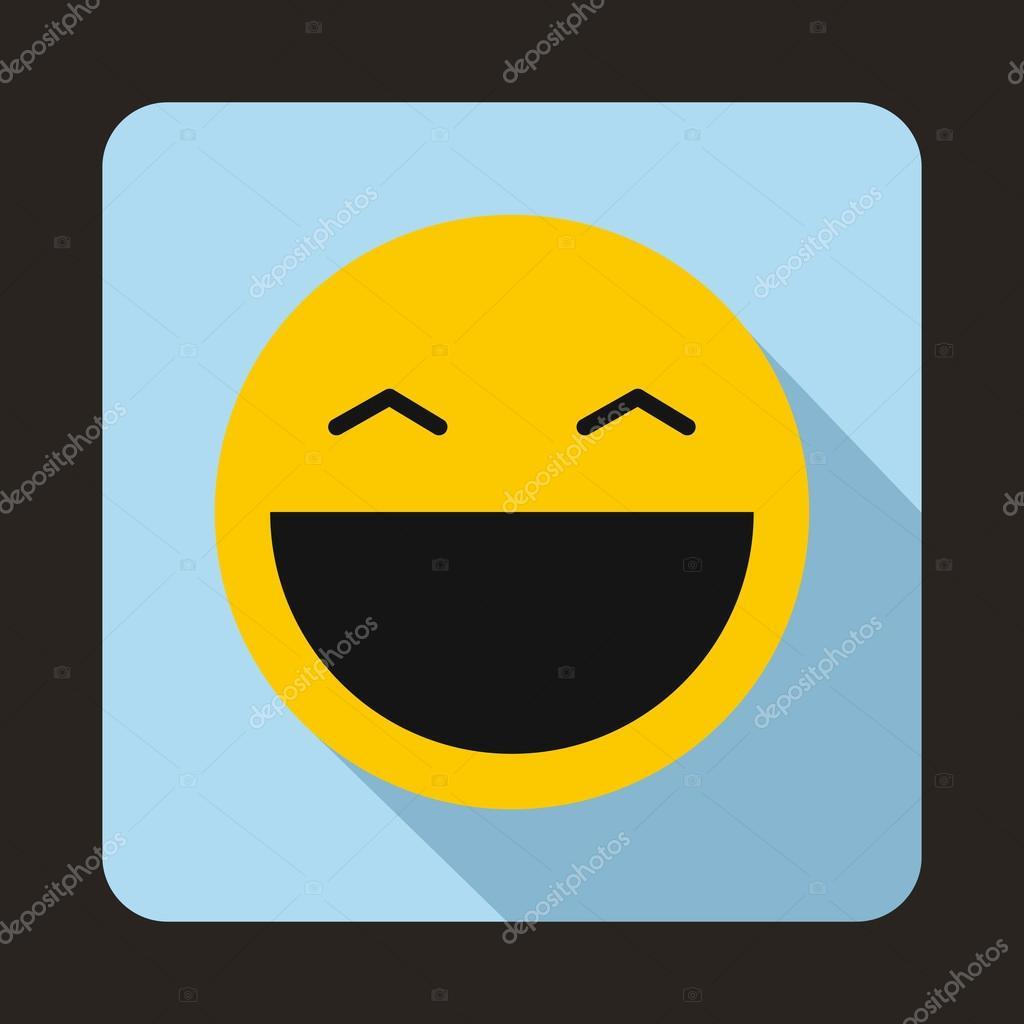 Lachender Smiley Mit Offenem Mund Symbol Stockvektor Ylivdesign