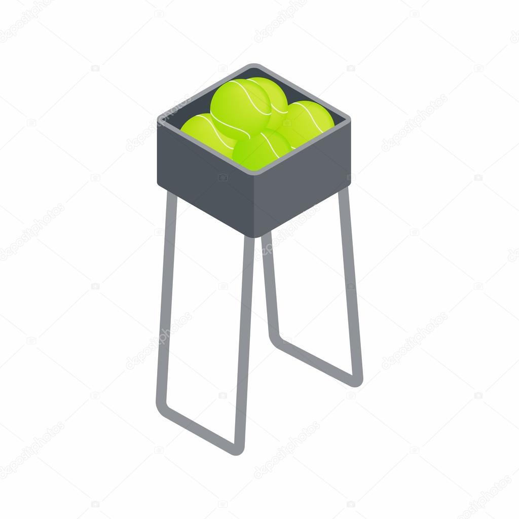 basket for keep tennis balls icon stock vector ylivdesign 112167134. Black Bedroom Furniture Sets. Home Design Ideas