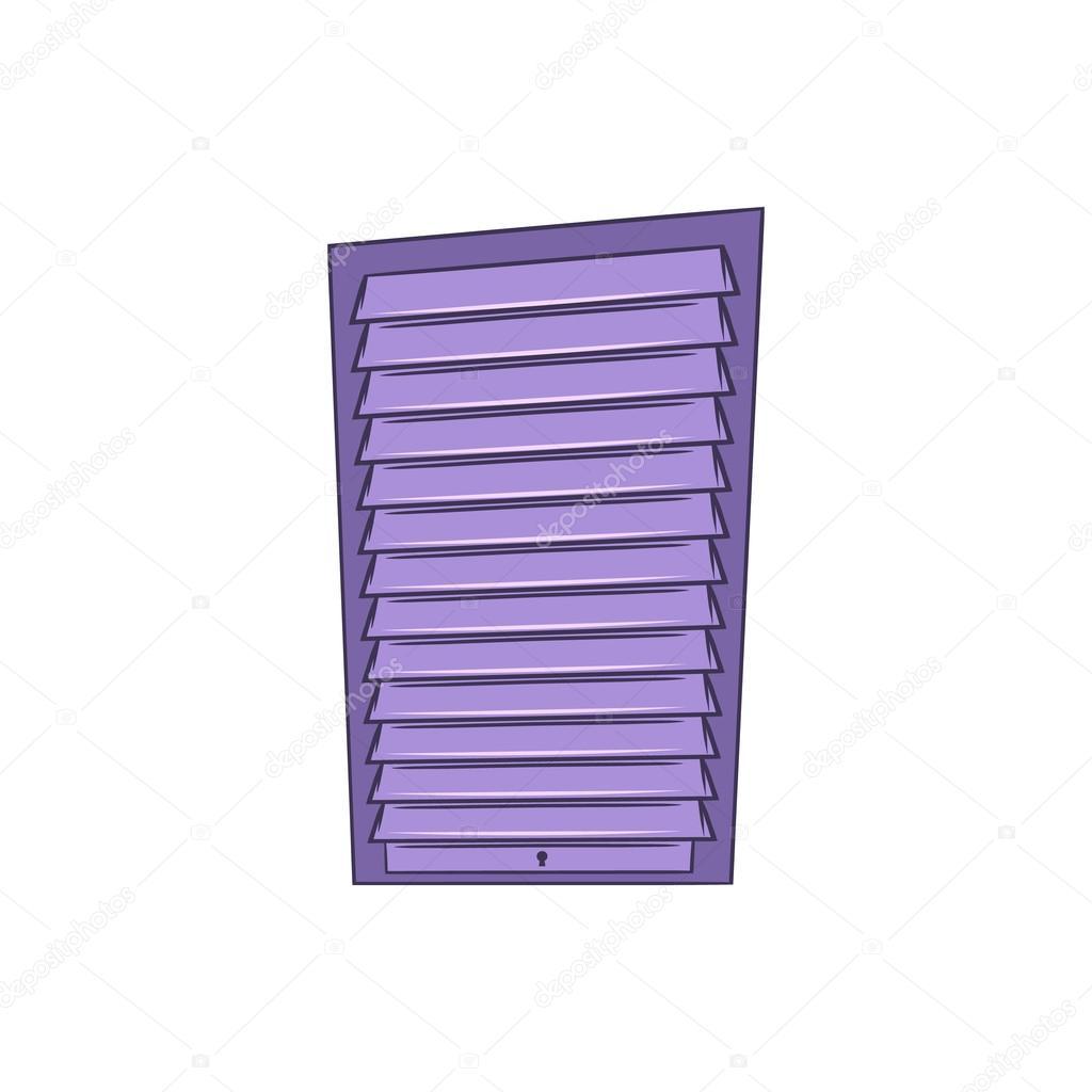 Shutter Door Or Roller Door Icon Cartoon Style Stock