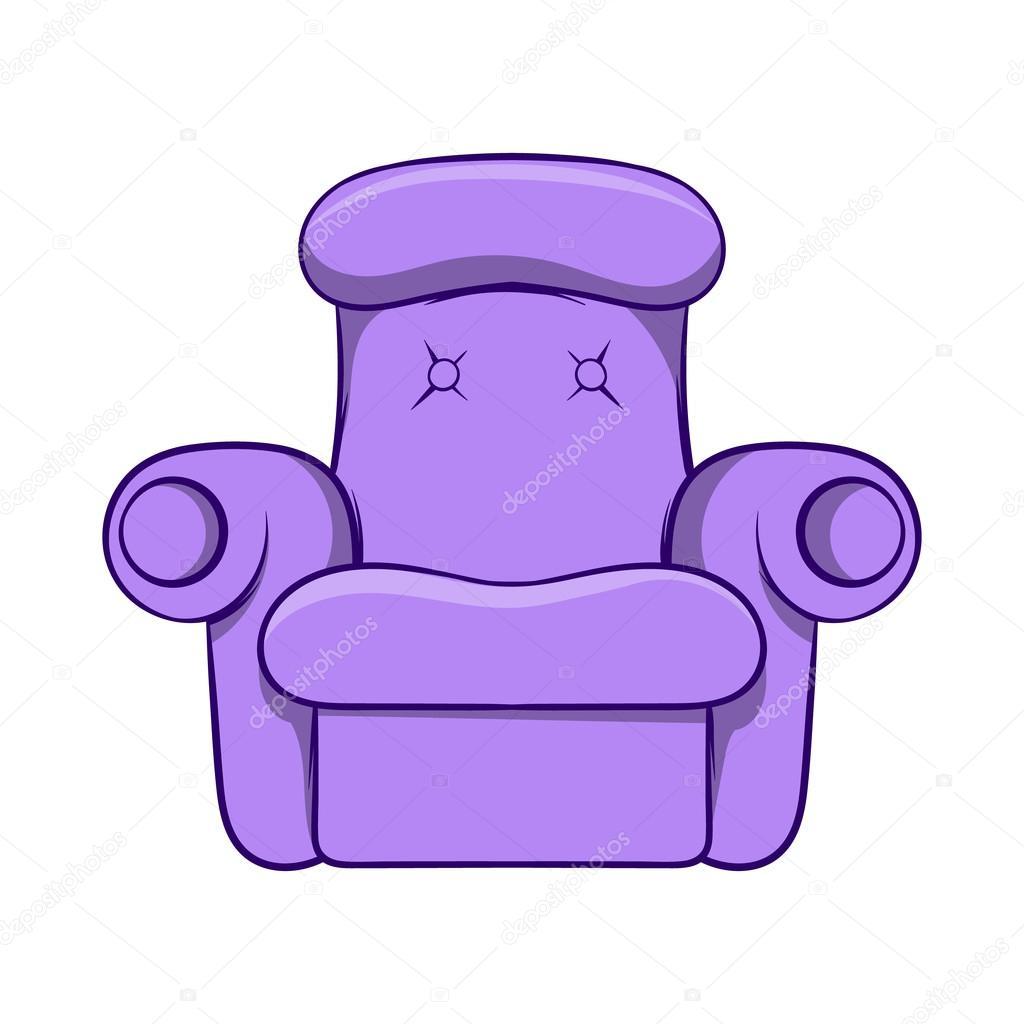 Icono de sill n f cil estilo de dibujos animados for Dibujos de muebles