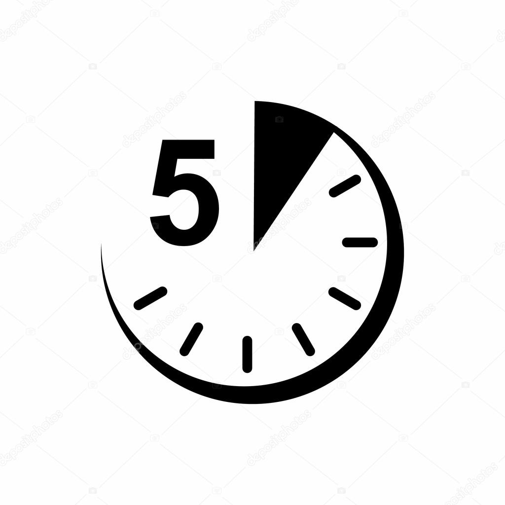 5 minuten pictogram eenvoudige stijl stockvector for Cocinar en 5 min