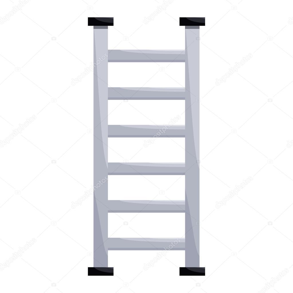 icono de la escalera de metal en estilo de dibujos animados u vector de stock