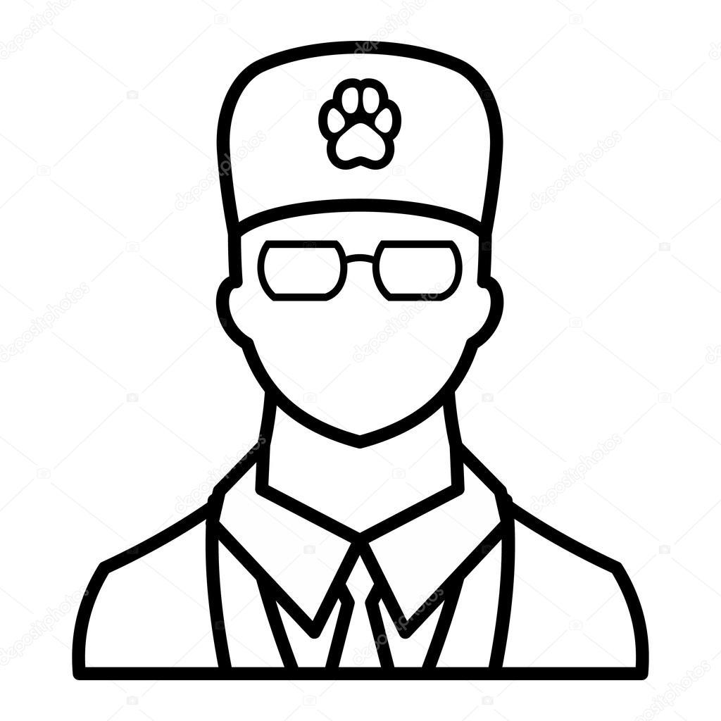 Icono de veterinario, estilo de contorno — Vector de stock ...