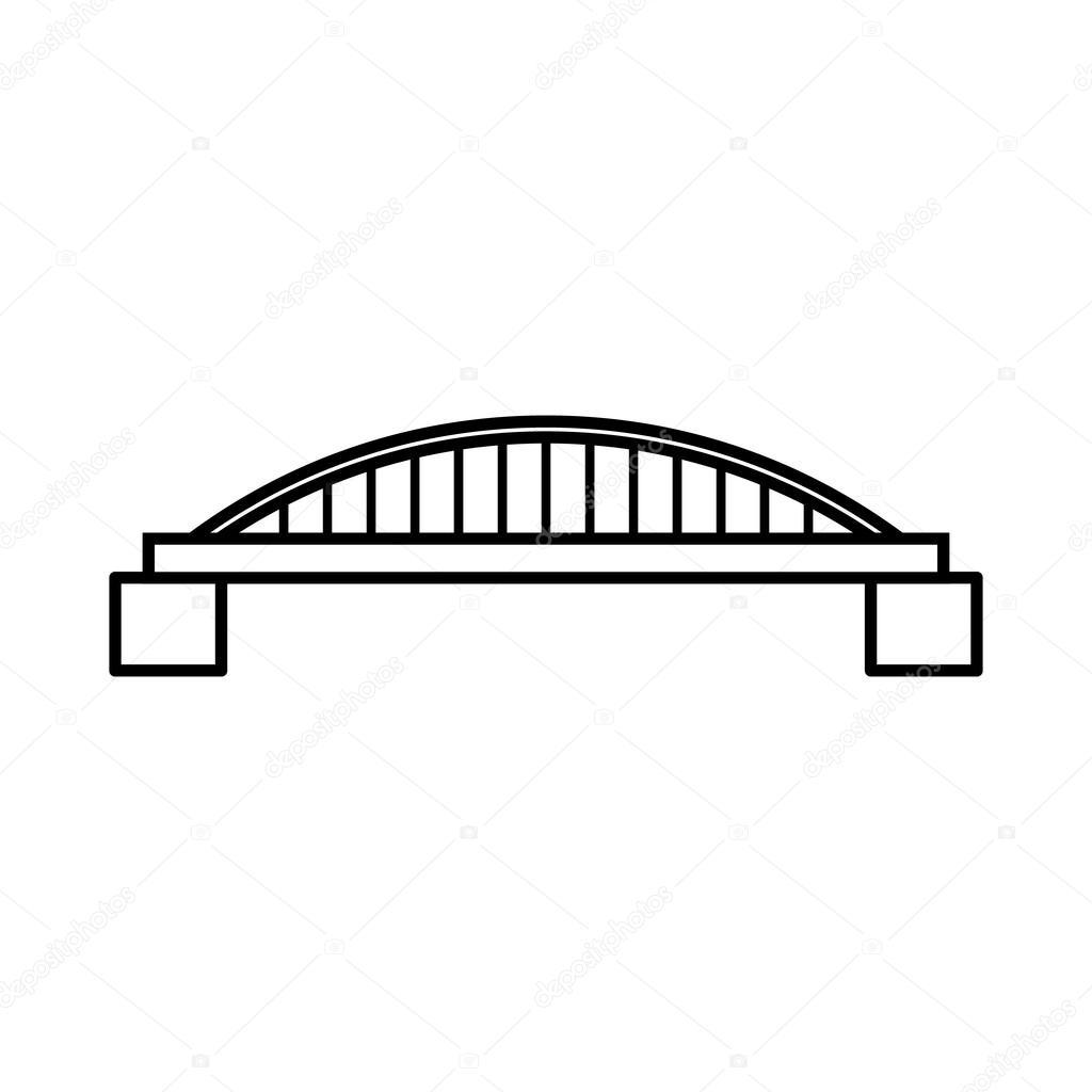 br cke symbol umriss stil stockvektor ylivdesign 113394292. Black Bedroom Furniture Sets. Home Design Ideas