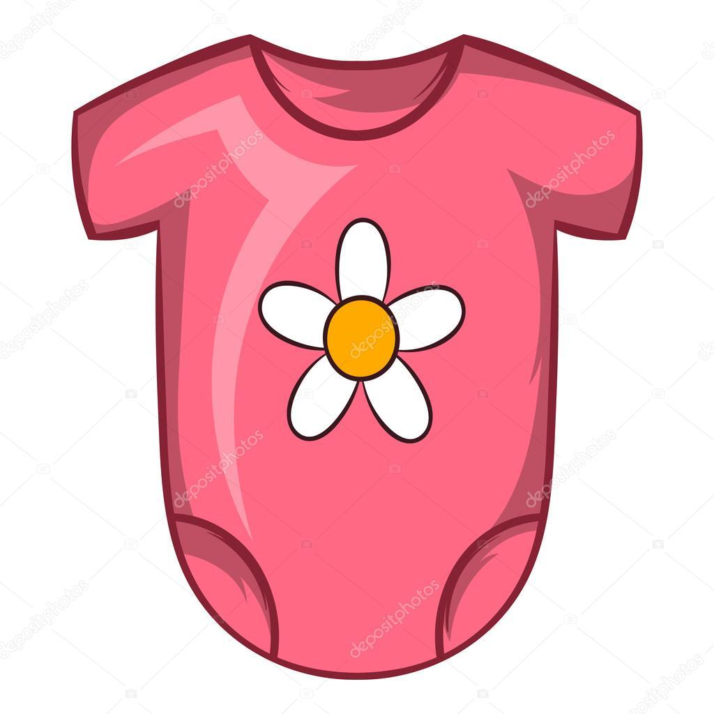 Icône de Body bébé rose dans le style de dessin animé sur fond blanc —  Vecteur par ... 9542932ff3a