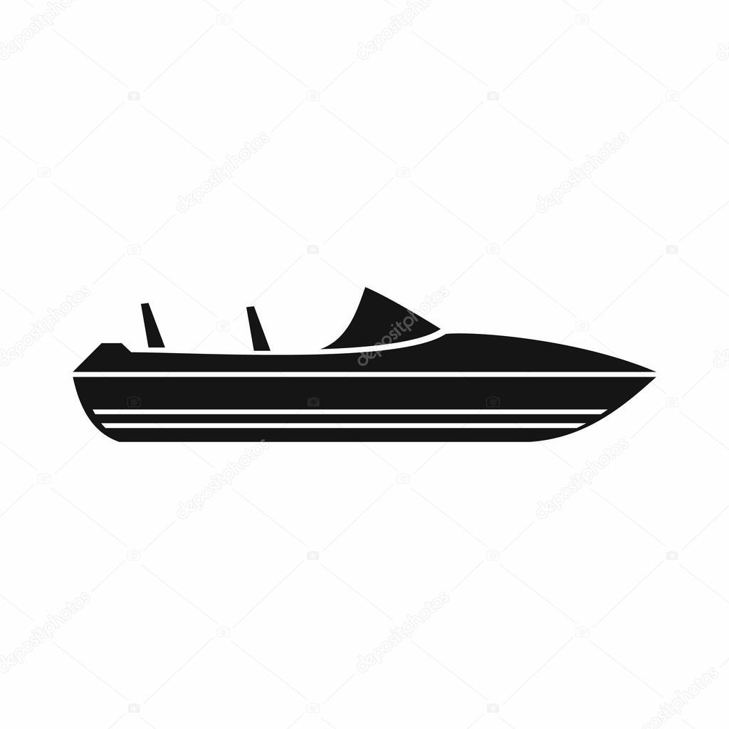 ic ne de petit bateau moteur style simple image vectorielle ylivdesign 113672818. Black Bedroom Furniture Sets. Home Design Ideas