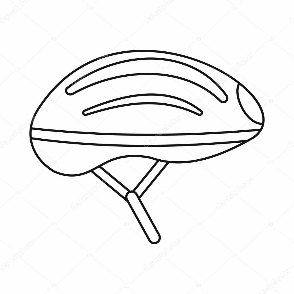 Design bike helmet coloring coloring pages for Decor outline