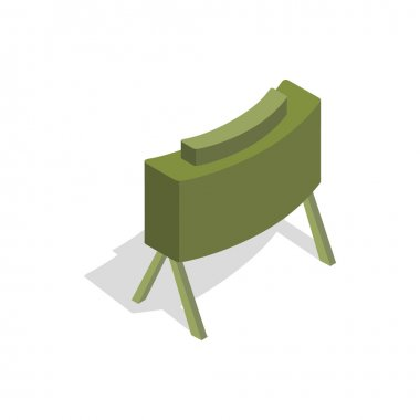 Military mine icon in isometric 3d style