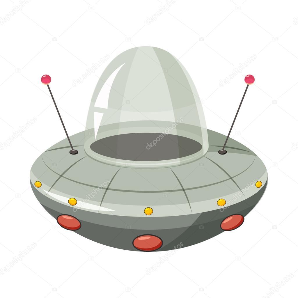 Icona di ufo astronave stile del fumetto — vettoriali