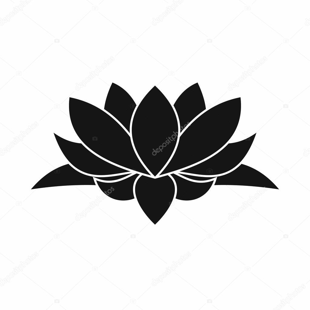 Flor De Loto Dibujo Simple Icono De La Flor De Loto Estilo Simple