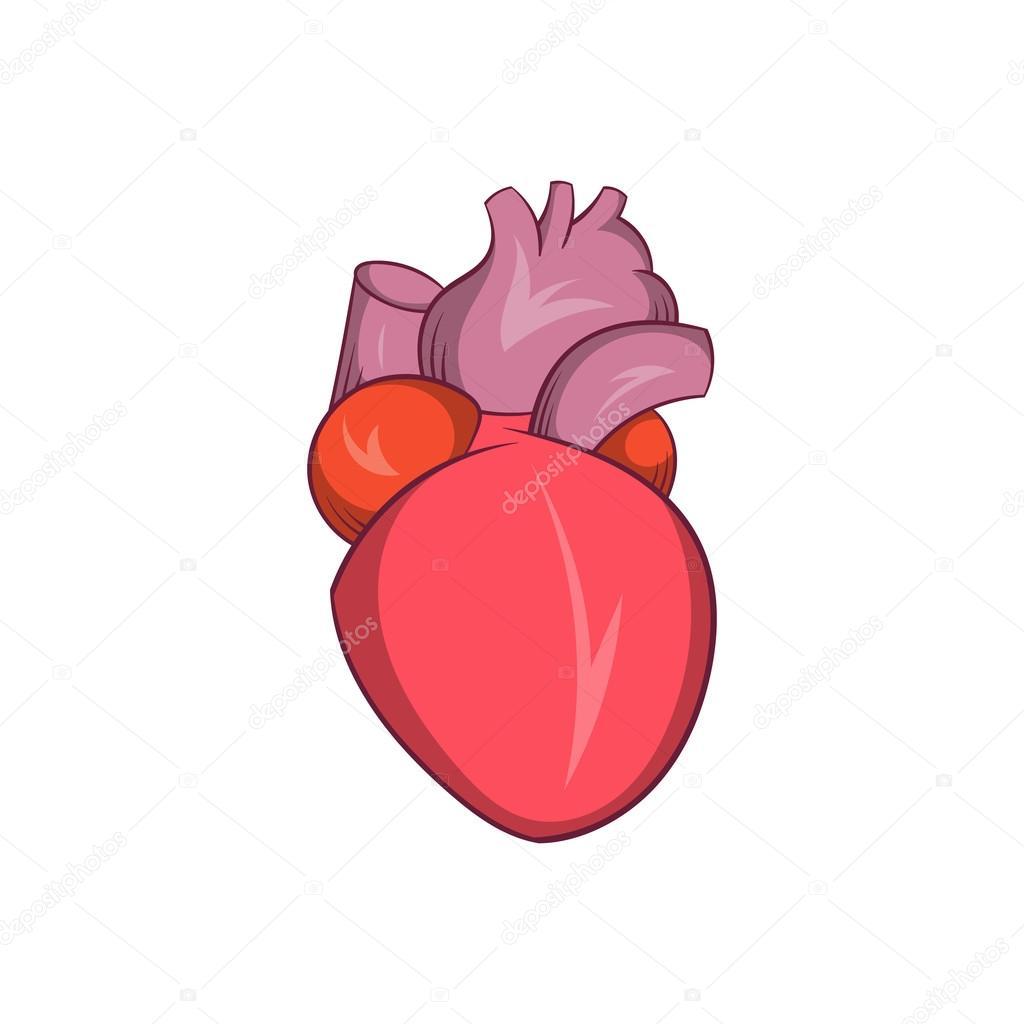 Animado Corazón Humano Icono Del Corazón Humano Estilo De