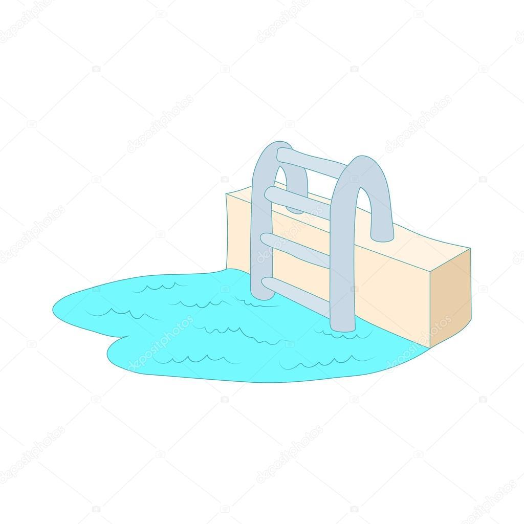 Bra Swimming pool stege ikon, tecknad stil — Stock Vektor © ylivdesign WJ-93