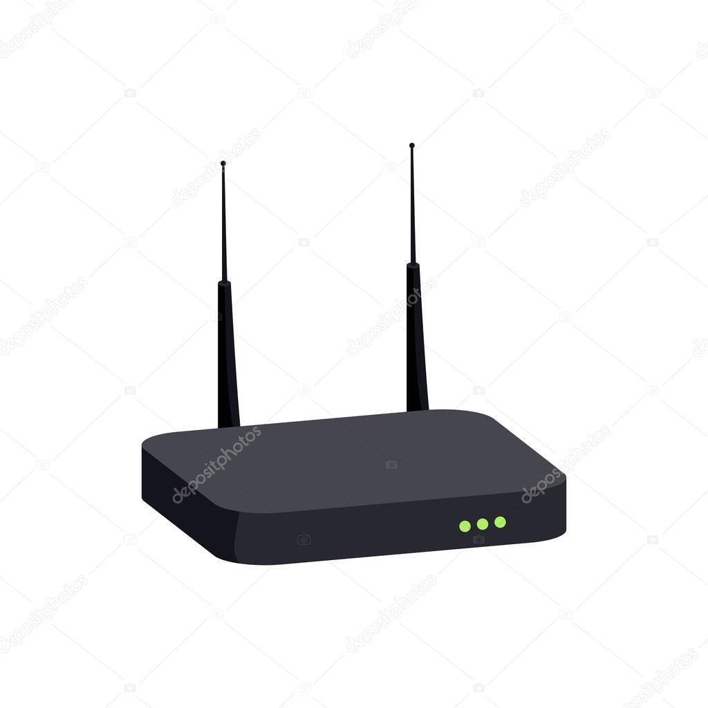 Router-Symbol im Cartoon-Stil — Stockvektor © ylivdesign #115266998