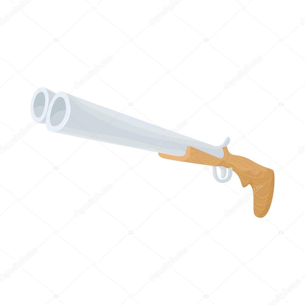 Dessin Fusil De Chasse icône de fusil de chasse, de style dessin animé — image vectorielle