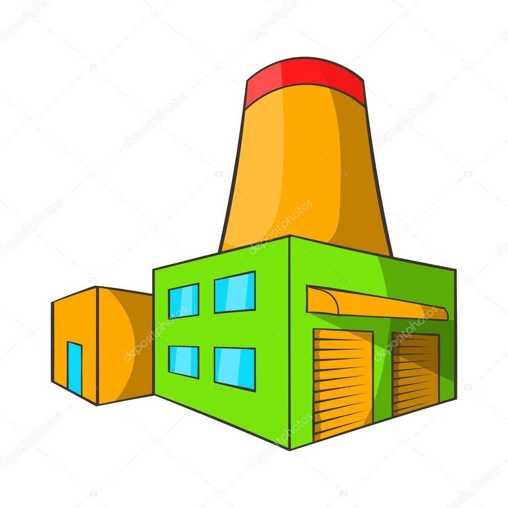 Icono de f brica de cerveza estilo de dibujos animados for Fabrica de aberturas de madera