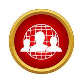 Fotografia Connessioni di rete tra icona della gente