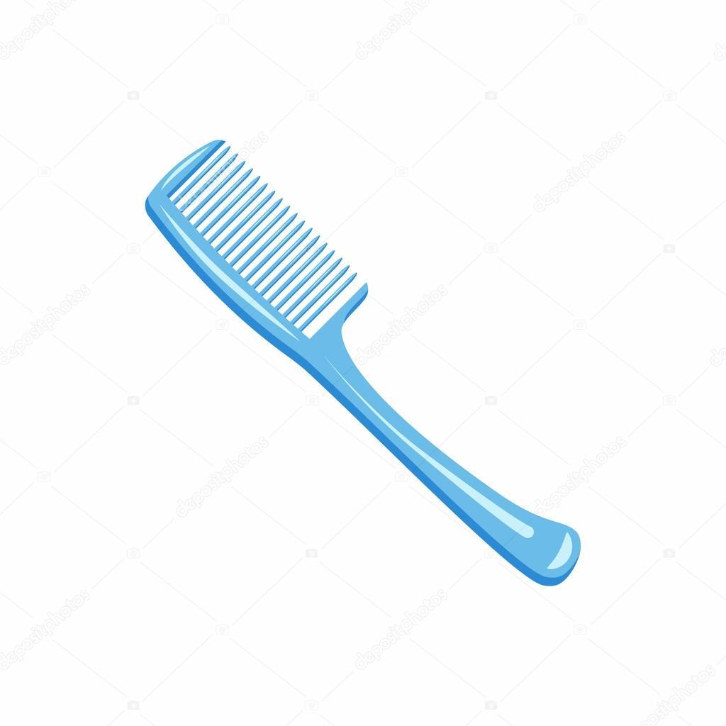 Animado Cepillo De Pelo Icono Azul Cepillo Para El Pelo