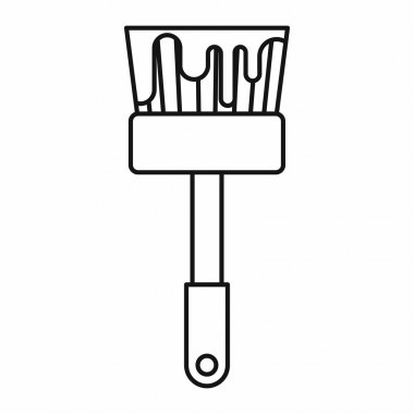 Paint brush icon, outline style