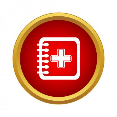 Clinical record icon, simple style