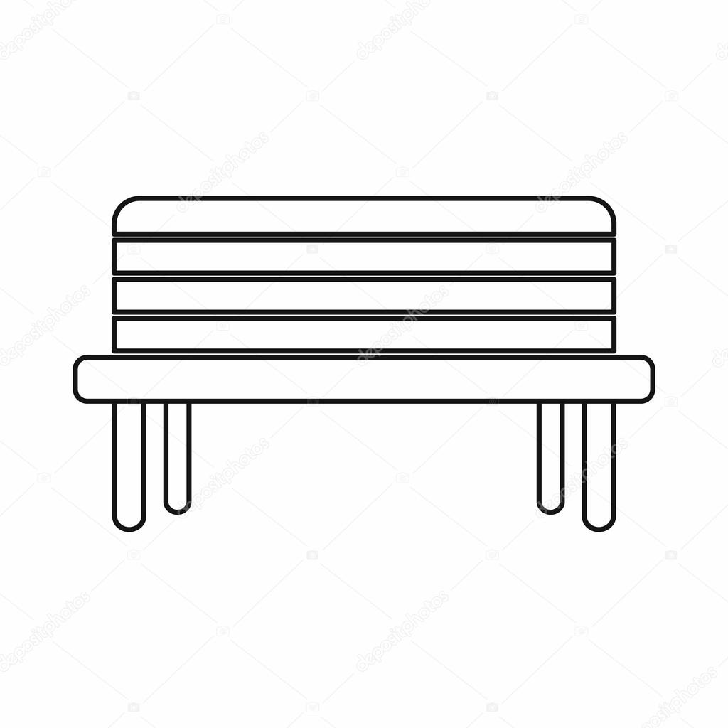 Pouli n lavi ky ikona styl osnovy stock vektor - Imagenes de bancos para sentarse ...