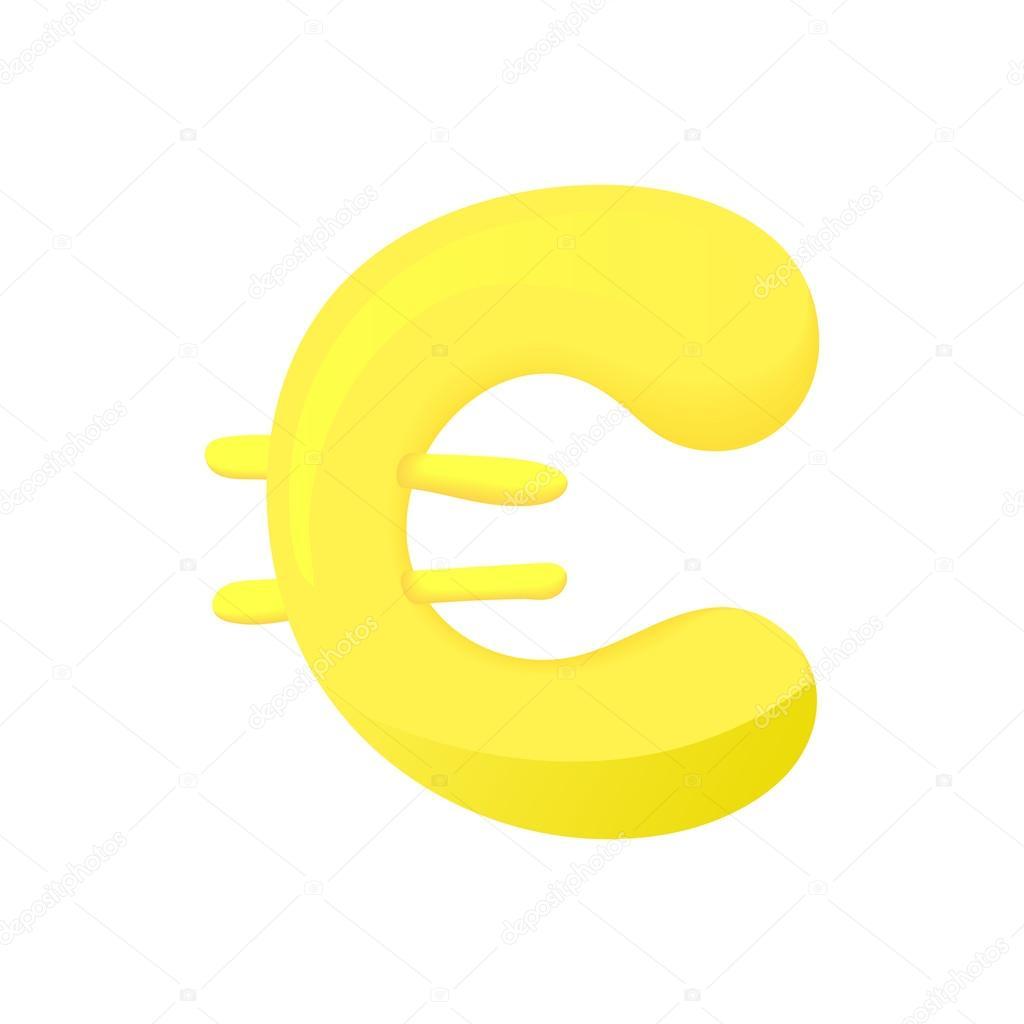 Euro Sign Icon Cartoon Style Stock Vector C Ylivdesign 116888064
