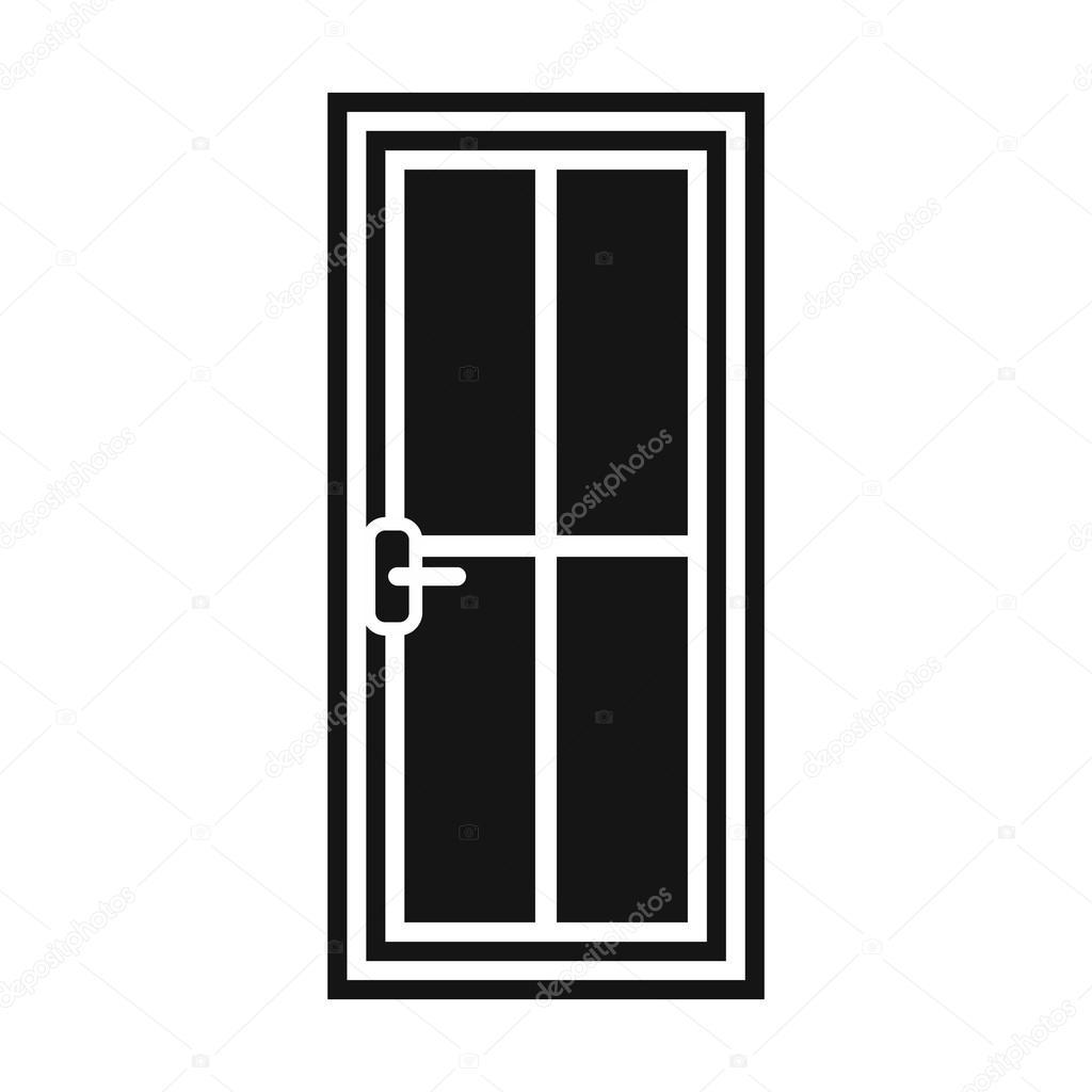 Glass Doors Clipart vector glass door
