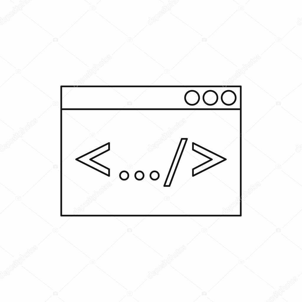 Greater than less than icon outline style stock vector greater than less than icon outline style stock vector buycottarizona Image collections