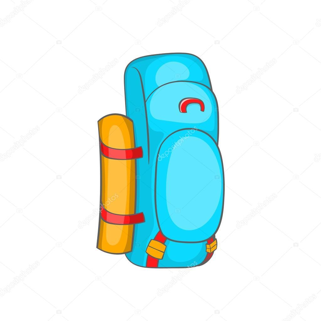 b58d201c2b Turistický batoh ikony ve stylu kreslených — Stock Vektor ...