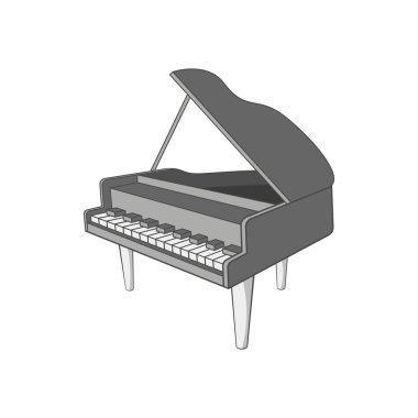 Piano icon, cartoon style