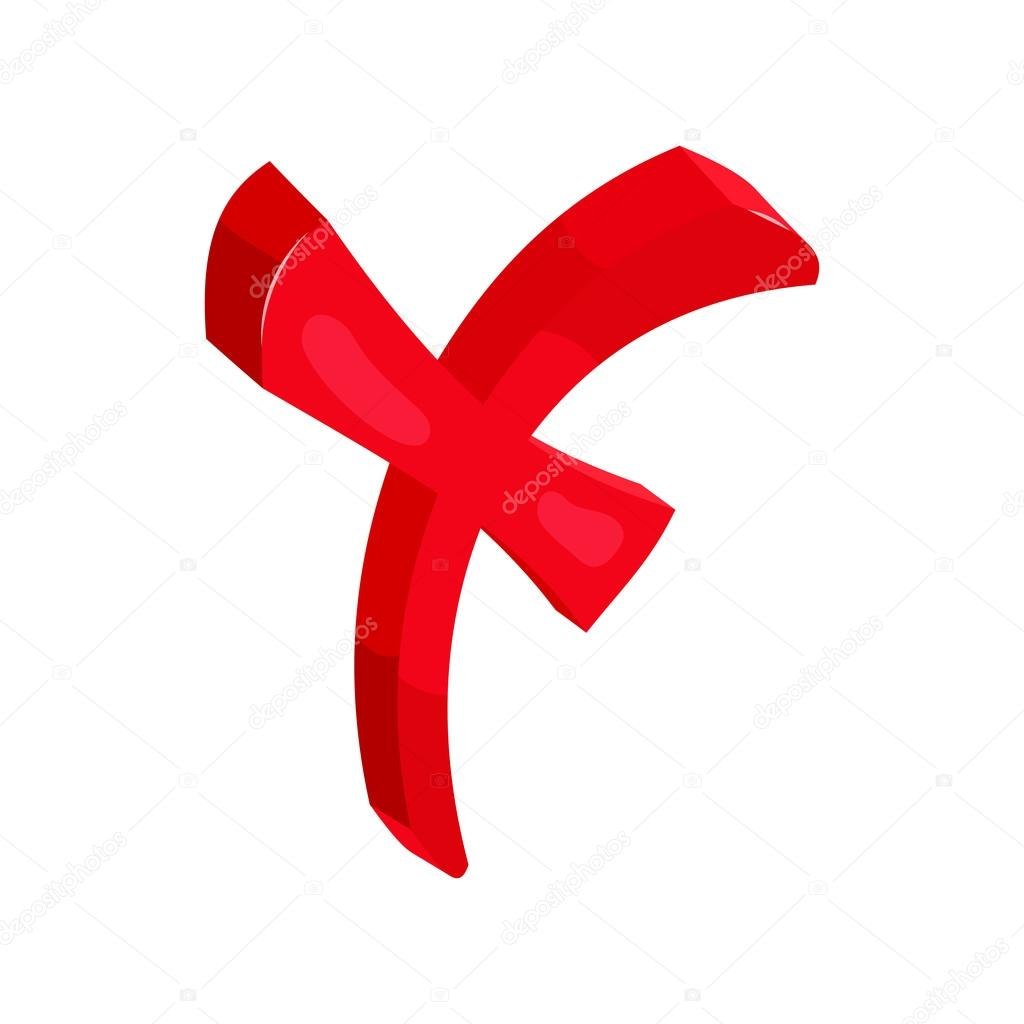 Kreuz, Häkchen, Cartoon-Stil — Stockvektor #118396182 | {Rotes kreuz symbol 30}