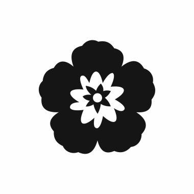 Rose of Sharon, korean flower icon, simple style