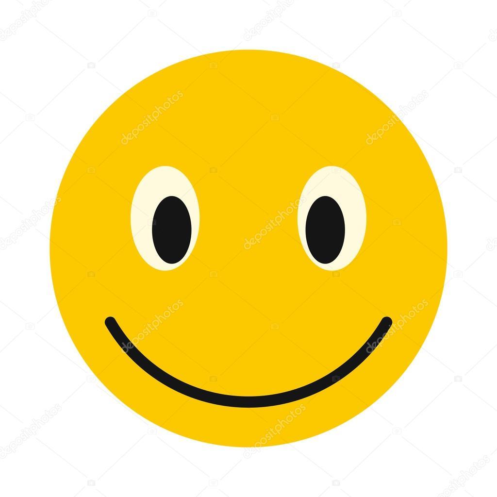 Depositphotos Stock Illustration Smiley Icon Flat Style Happy