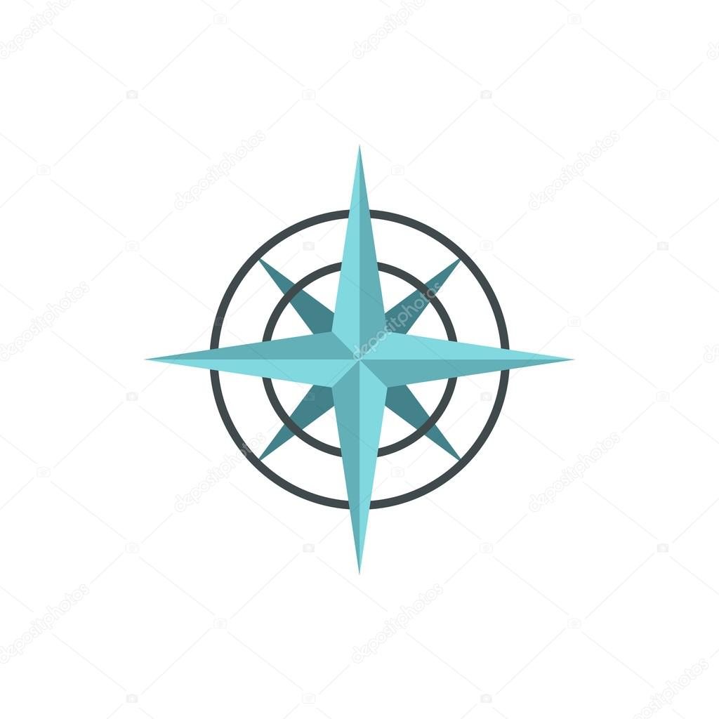 Sign Of Compass Icon Flat Style Stock Vector Ylivdesign 119901508