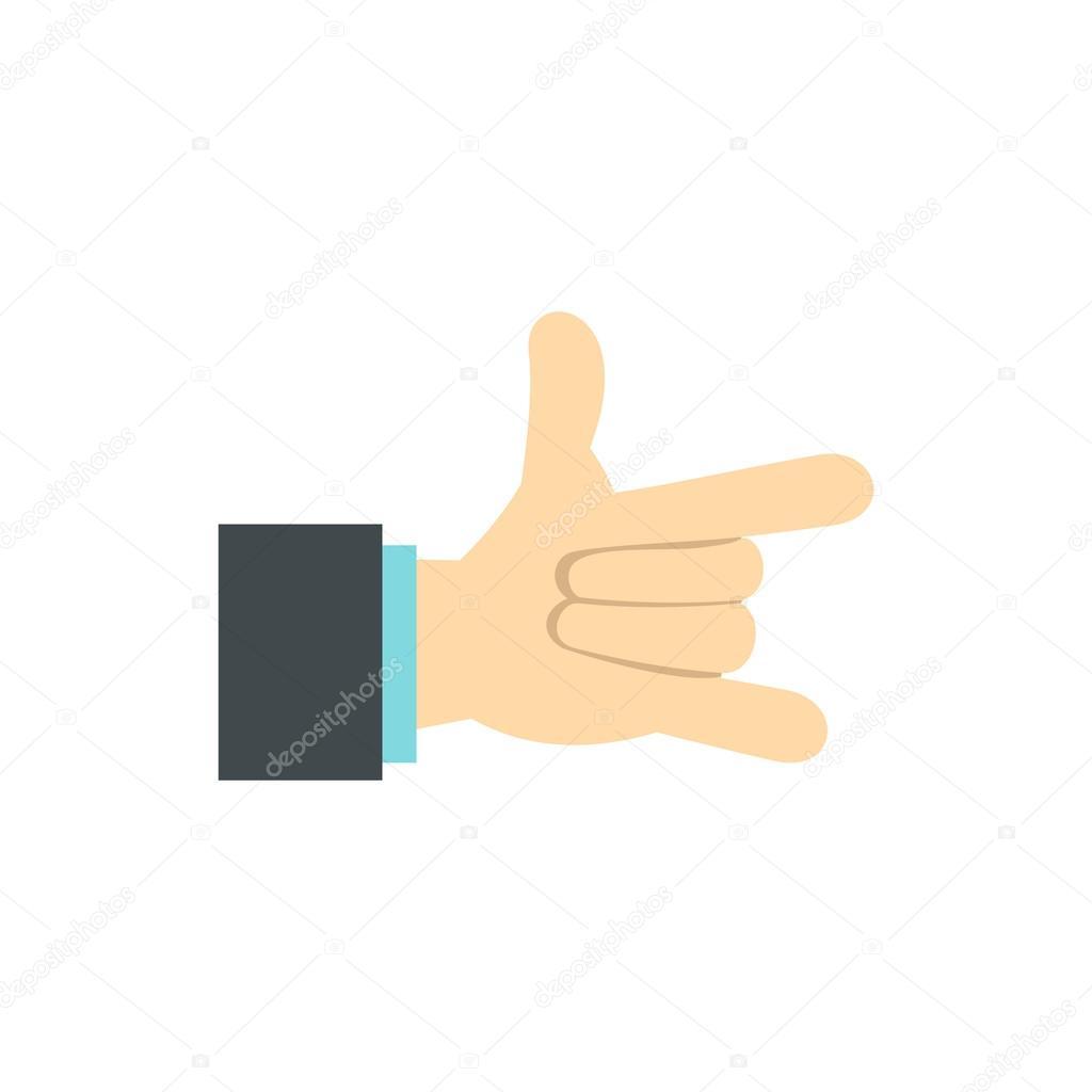 人差し指と小指のアイコンとジェスチャーします ストックベクター