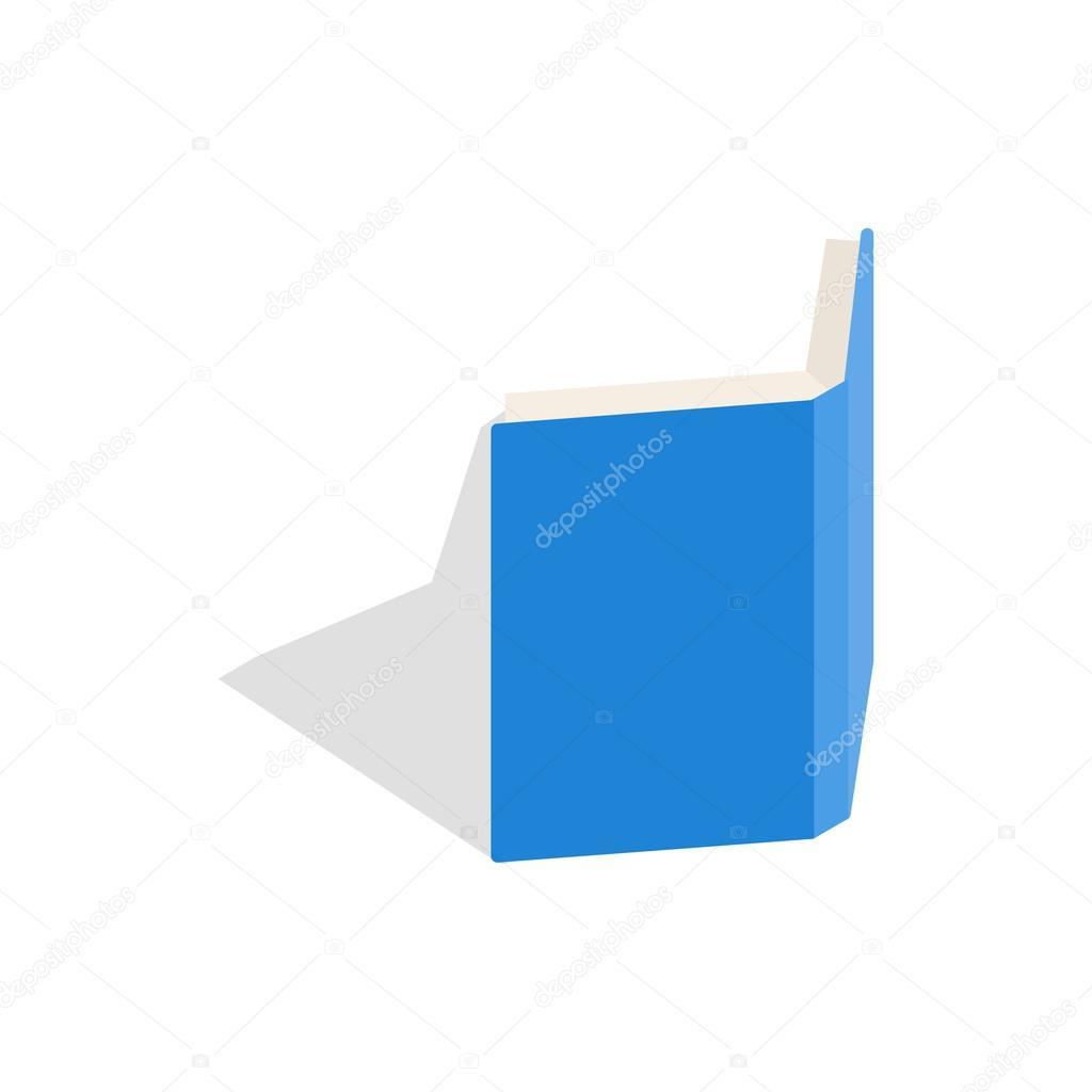 Icone De Couverture De Livre Ouvert Bleu Style 3d