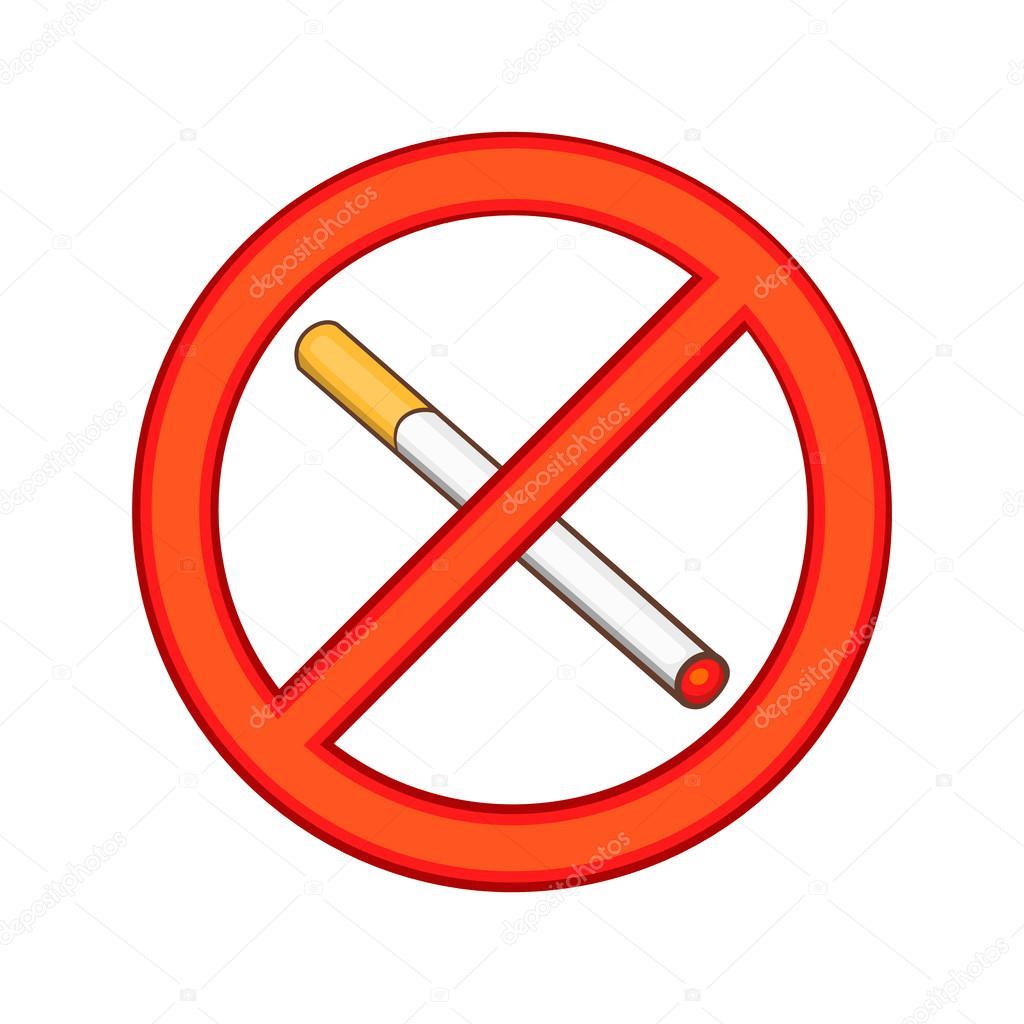 Fumer Est Interdit Ic Ne Style Cartoon Image Vectorielle