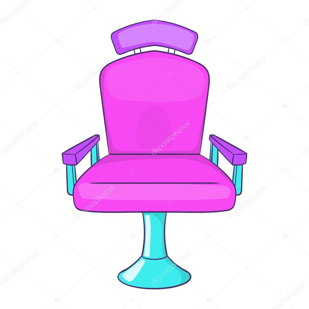 Icono de la silla estilo de dibujos animados de peluquero for Sillas para dibujar facil