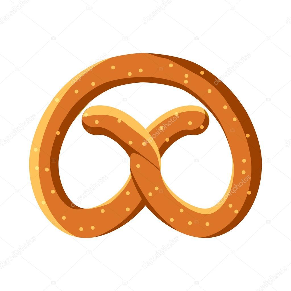 pretzel for oktoberfest icon cartoon style stock vector