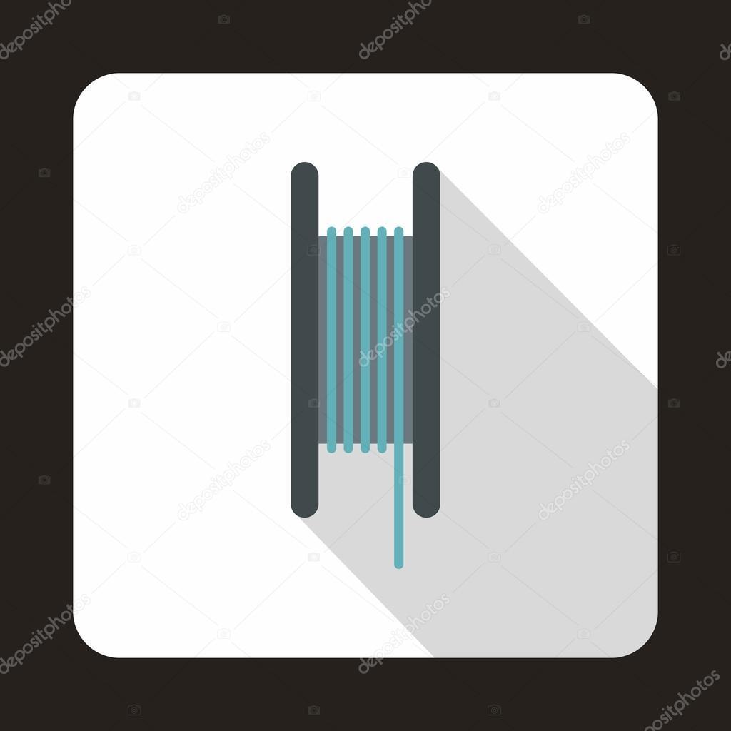 Draht-Spule-Symbol, flache — Stockvektor © ylivdesign #121766500