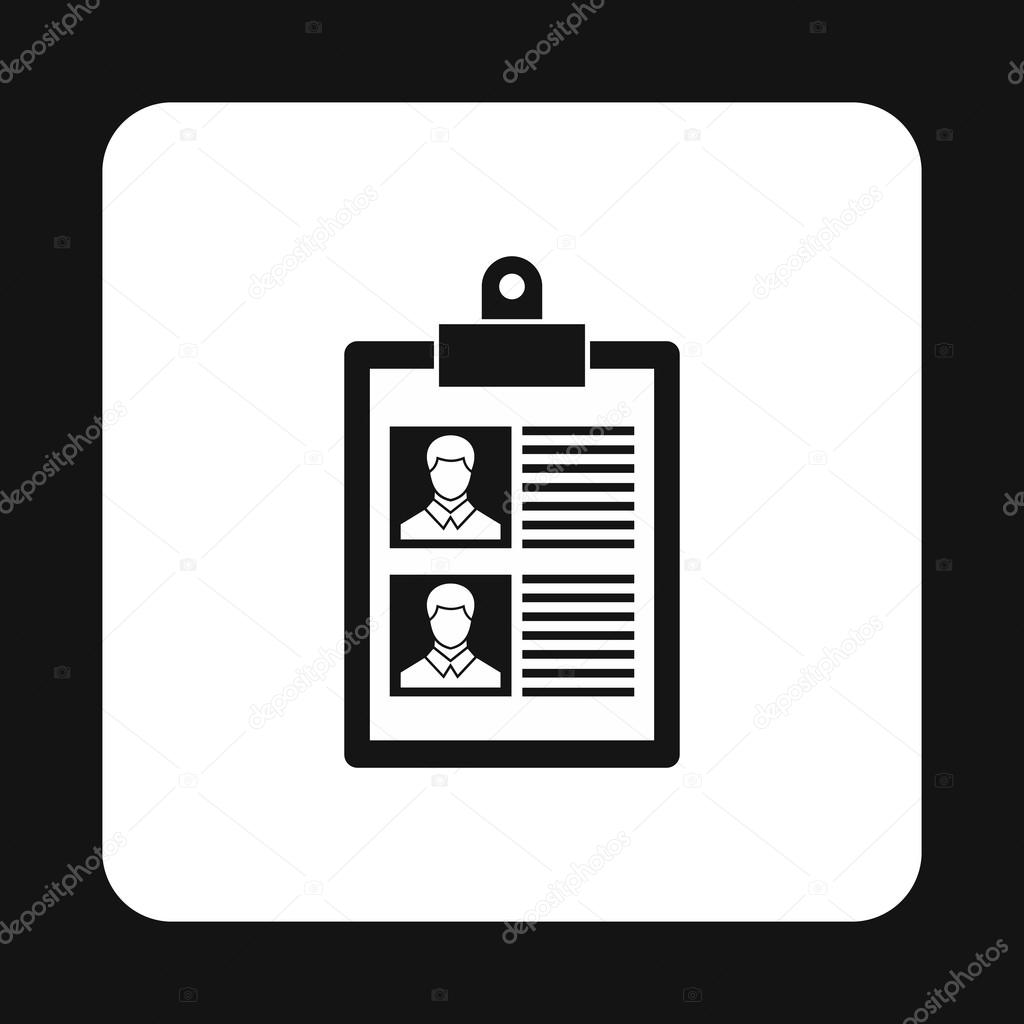 Reanudar de icono de dos candidatos, estilo simple — Vector de stock ...