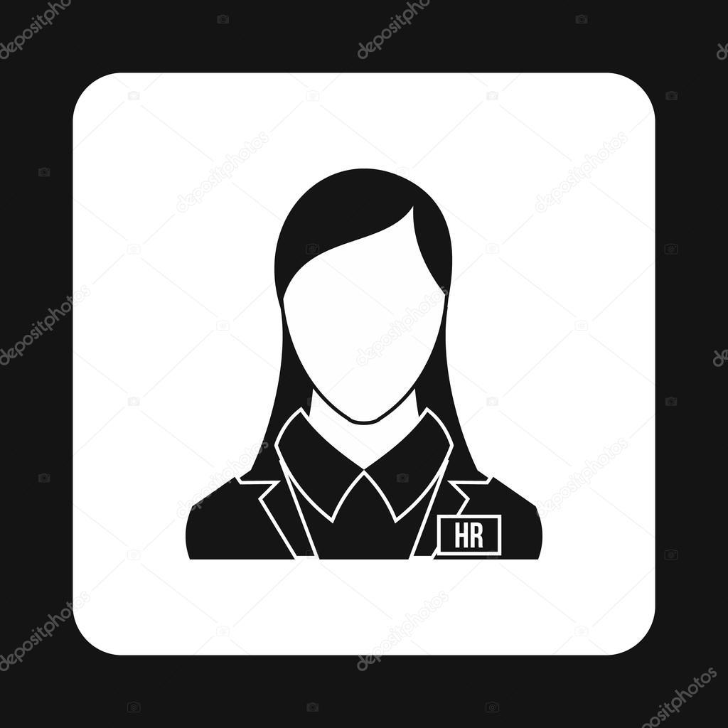 Icono del administrador de recursos humanos, estilo simple ...