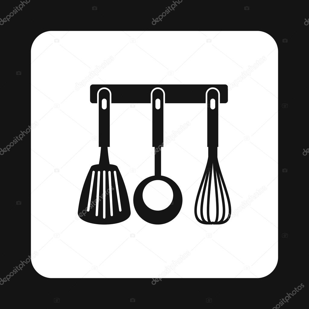 spatola, mestolo e frusta, icona di strumenti di cucina ... - Strumenti Cucina