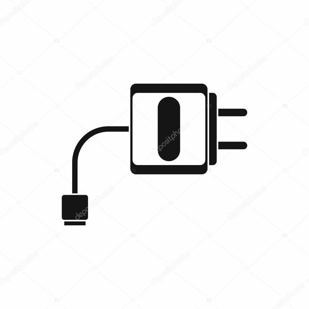 Mini-Ladegerät-Symbol, einfachen Stil — Stockvektor © ylivdesign ...