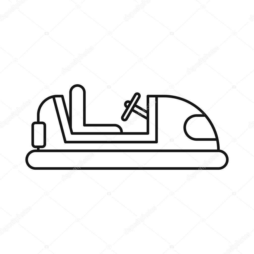 botsauto pictogram in kaderstijl stockvector