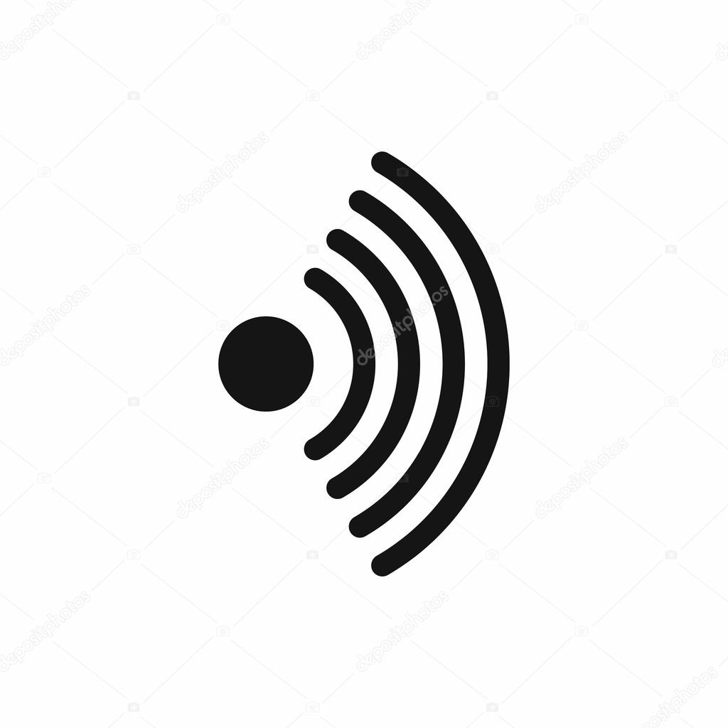 Wireless Network Symbol Icon Simple Style