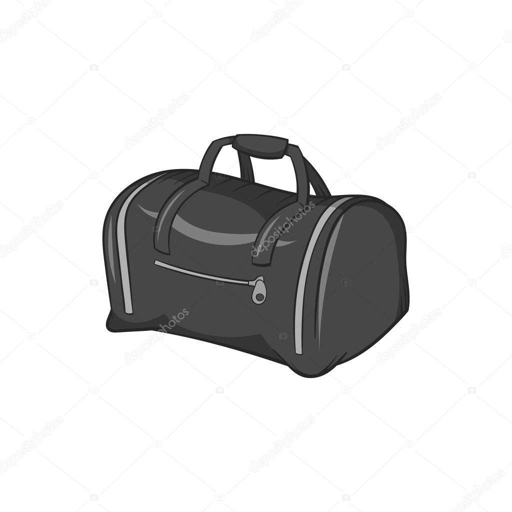 d80dd8ae61 Bag icon in black monochrome style isolated on white background. Baggage  symbol vector illustration — Vector by ylivdesign
