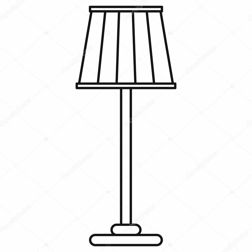 2017 Stehlampe Clipart