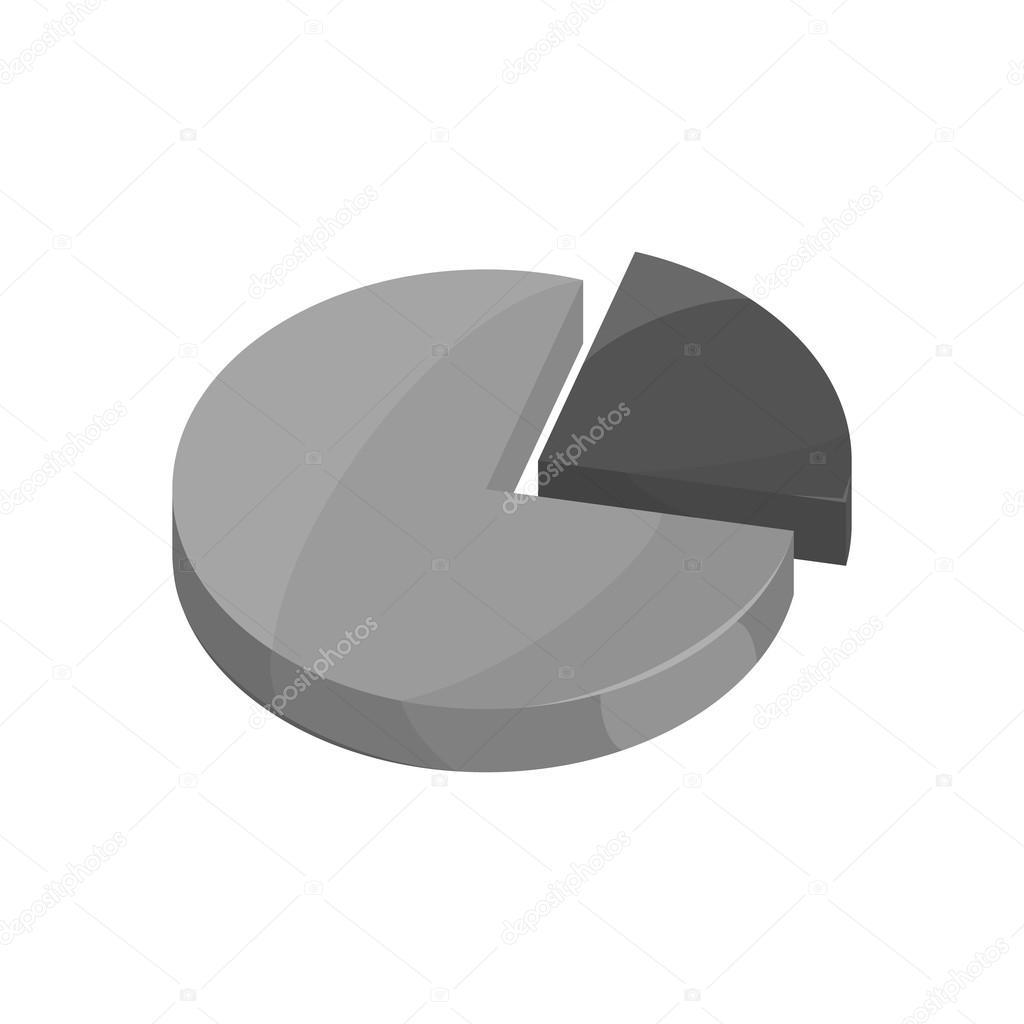 Geschäft Kuchen Diagramm Symbol, schwarz Stil Monochrom ...