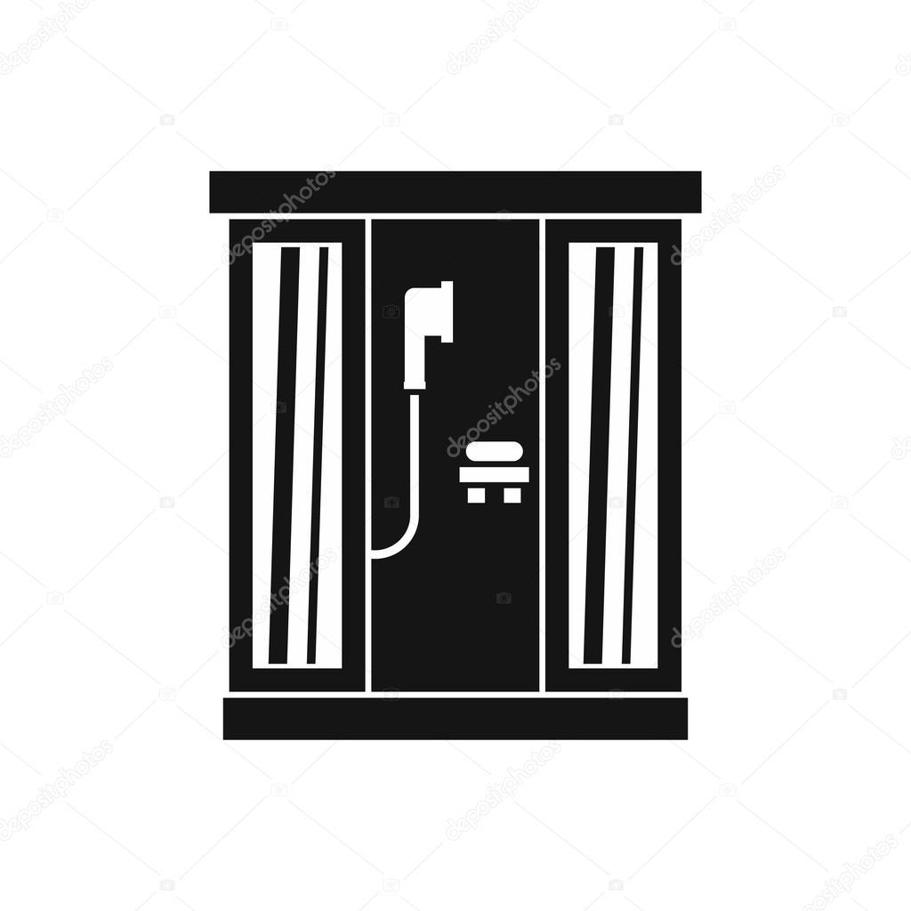 Icone De Cabine De Douche Style Simple Image Vectorielle